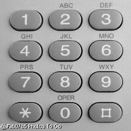 Telephone key pad